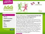 Website der AGG-Netzwerkstelle Sachsen-Anhalt (Desktop- und Tabletversion)