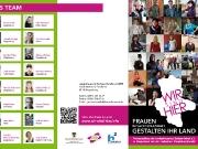 Faltblatt für die Ausstellung