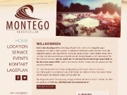 Homepage des Montego Beachclubs (Desktop-Version)