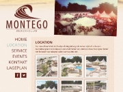 Homepage des Montego Beachclubs (Desktop-Version)