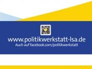 Aufsteller für die Politikwerkstatt Sachsen-Anhalt e.V.