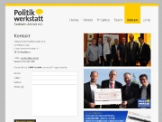 Screenshot Homepage der Politikwerkstatt Sachsen-Anhalt e.V.