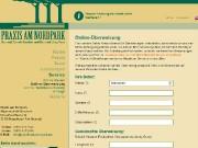 Homepage der Praxis am Nordpark