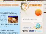 Screenshot Homepage der Strandbar Magdeburg