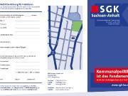 Faltblatt, SGK Sachsen-Anhalt e.V.