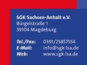 Visitenkarte, SGK Sachsen-Anhalt e.V.
