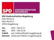 Visitenkarte für die SPD-Stadtratsfraktion Magdeburg