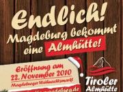 Werbeanzeige für die Tiroler Almhütte