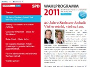 Wahlprogramm der SPD Sachsen-Anhalt zur Landtagswahl am 20.03.2011
