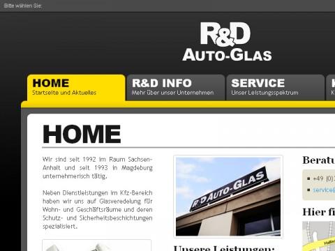 Neue Webseiten von R&D Autoglas online
