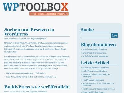WPToolbox = Tipps + Codeschnipsel für WordPress