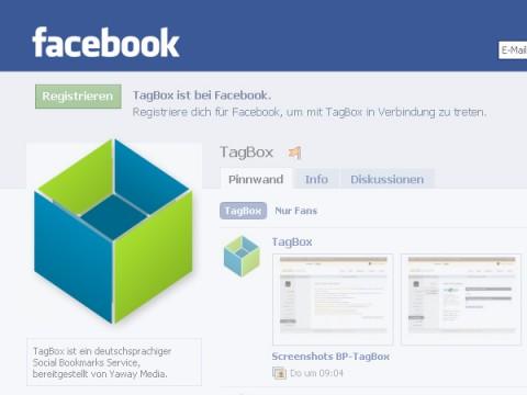 TagBox auf Facebook