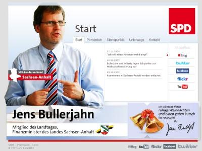 Homepage von Minister Bullerjahn online