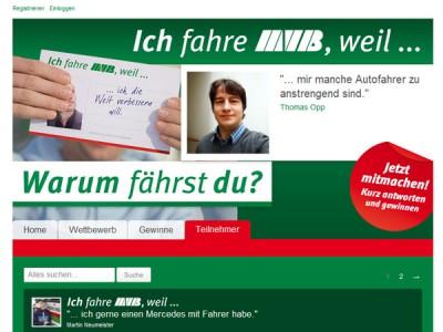 """Aktionshomepage """"Ich fahre MVB, weil…"""" online"""