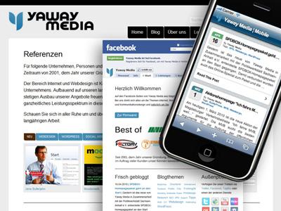 Neues Yaway-Weblayout, neue Facebook-Seiten und mobile Version