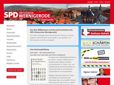 Homepage der SPD Wernigerode