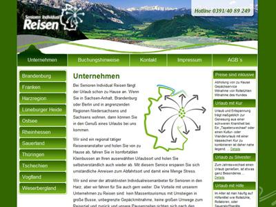 Neue Homepage von Magdeburger Veranstalter von Senioren-Individualreisen veröffentlicht