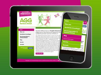 Internetpräsenz der Netzwerkstelle Allgemeines Gleichbehandlungsgesetz (AGG) Sachsen-Anhalt online