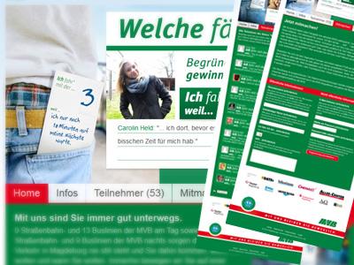 """""""Welche fährst Du?"""" – Neue Aktionshomepage der Magdeburger Verkehrsbetriebe gestartet"""