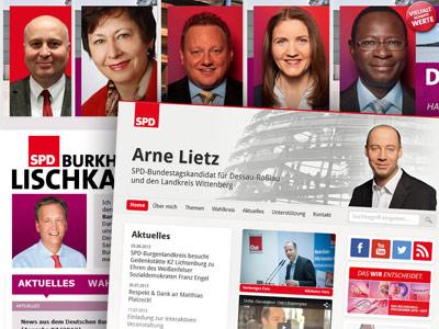 Online-Wahlkampf der Bundestagskandidaten aus Sachsen-Anhalt mit Websites von Yaway