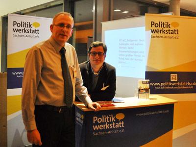 Mit Oliver Lindner von der Politikwerkstatt auf dem Landesparteitag der SPD Sachsen-Anhalt in Quedlinburg