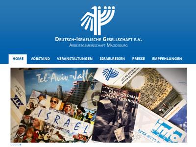 Neue Website für die Deutsch-Israelische Gesellschaft Magdeburg e.V.